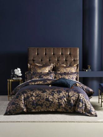 Verity Navy Quilt Cover Set