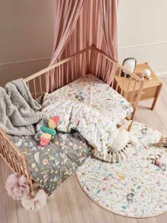 Garden Friends Cot Quilt Cover