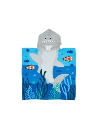 Sheldon Shark Hooded Beach Towel