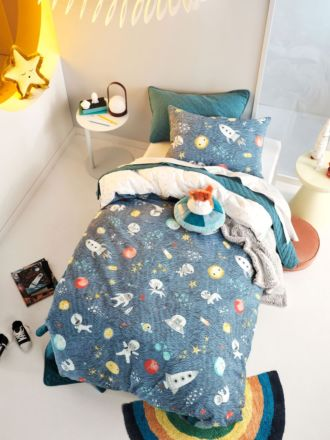 Space Race Quilt Cover Set