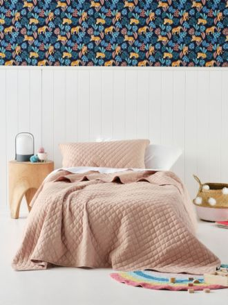 Tee Peach Coverlet Set