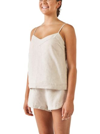 Nimes Natural Linen Cami