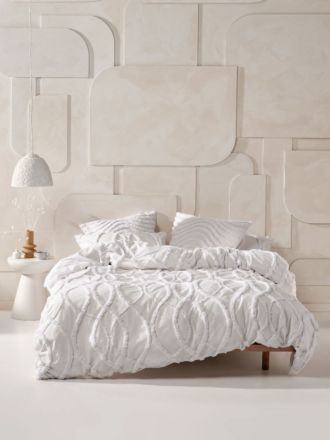 Amadora White Quilt Cover Set