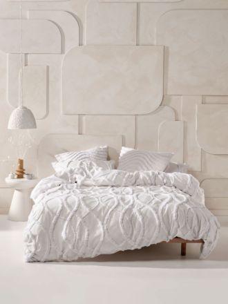 Amadora White Quilt Cover Set