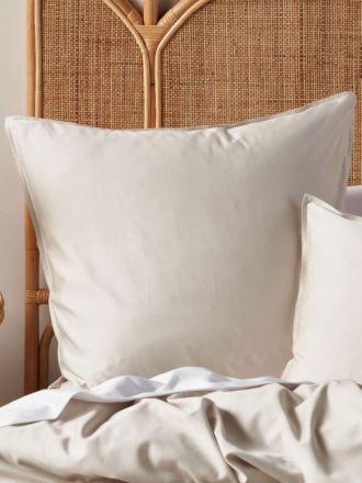Aria Sand Bamboo Cotton 600TC European Pillowcase