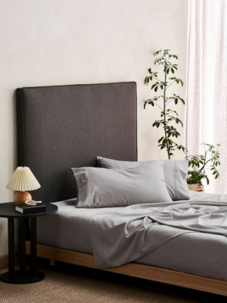 Aria Silver Bamboo Cotton 600TC Sheet Set