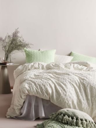 Benedita Mint Quilt Cover Set