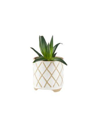 Estrada White Planter Pot 16cm