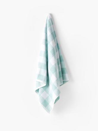 Flinders Check Aqua Towel Collection