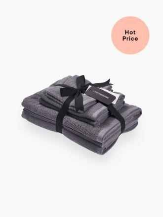 Gelati Grey 6-Piece Bath Towel Set