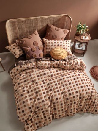 Haze Pecan Quilt Cover Set