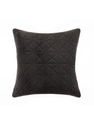 Heath Black European Pillowcase