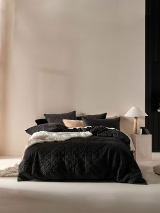 Heath Black Quilt Cover Set