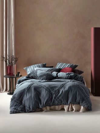 Heather Slate Quilt Cover Set