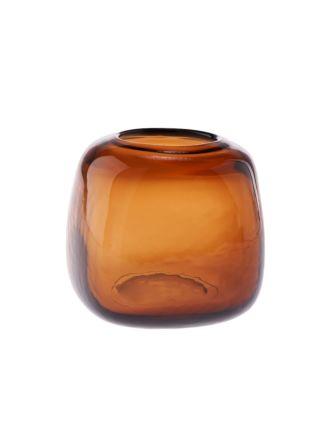 Indiana Amber Vase 15cm