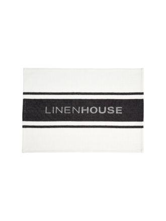 Linen House Black Tea Towel