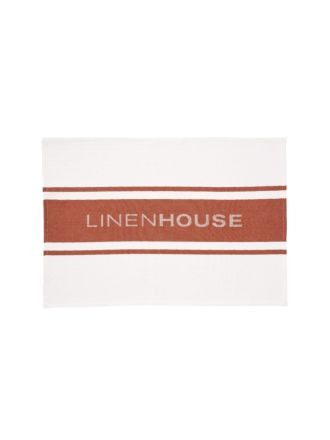 Linen House Rust Tea Towel