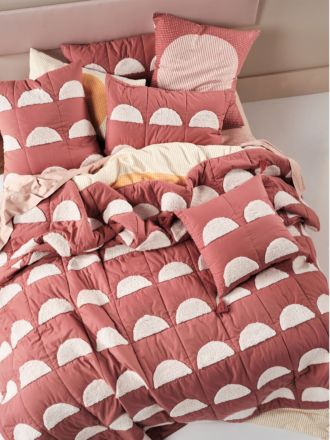 Moonrise Paprika Bed Cover
