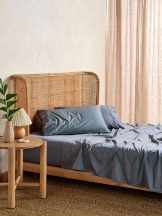 Nara Bluestone Bamboo Cotton 400TC Sheet Set