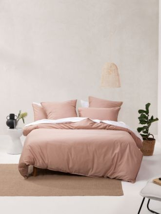 Nara Bamboo Cotton Clay Quilt Cover Set