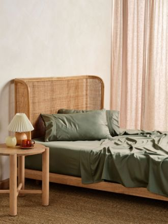 Nara Moss Bamboo Cotton 400TC Sheet Set