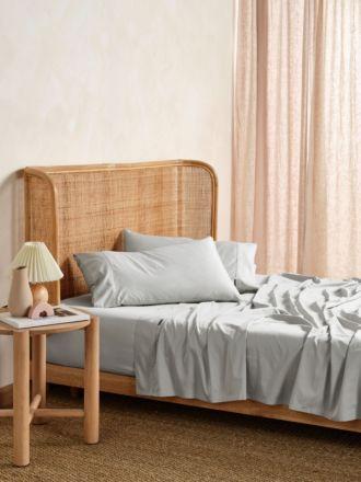 Nara Silver Bamboo Cotton 400TC Sheet Set