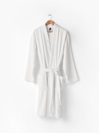 Nara Cotton/Bamboo White Bath Robe