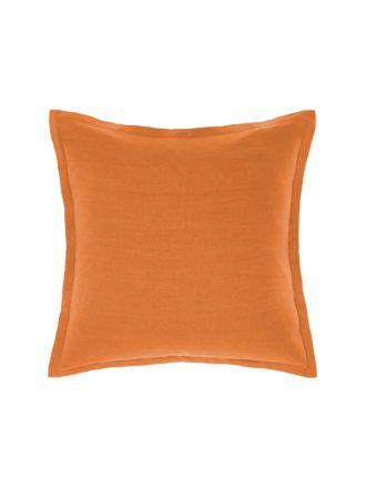 Nimes Terracotta Linen Tailored Cushion 48x48cm