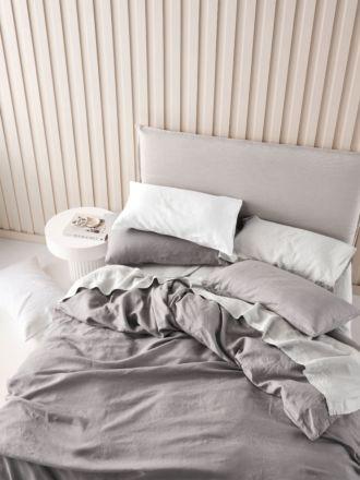 Nimes Ash Linen Quilt Cover Set