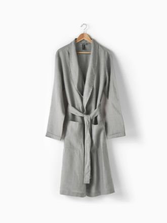 Nimes Ash Linen Robe