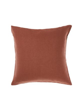 Nimes Rust Linen European Pillowcase