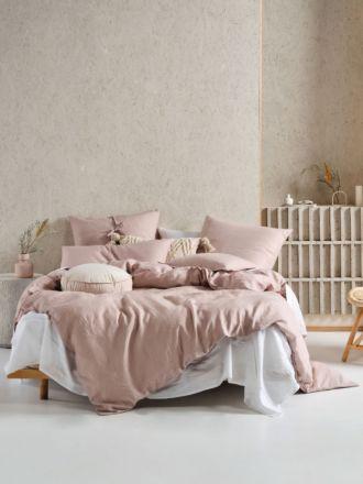 Nimes Dusk Linen Quilt Cover Set