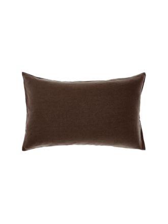Nimes Espresso Linen Standard Pillowcase