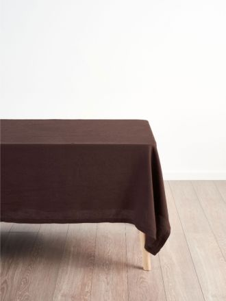 Nimes Espresso Linen Tablecloth