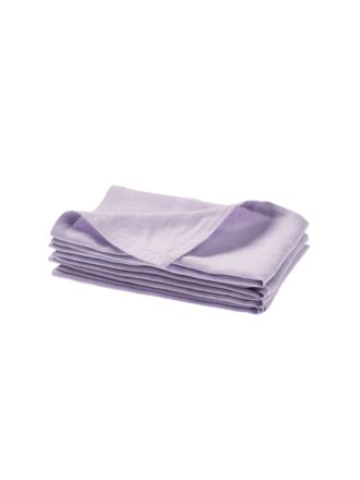 Nimes Lilac Linen 4-Piece Napkin Set