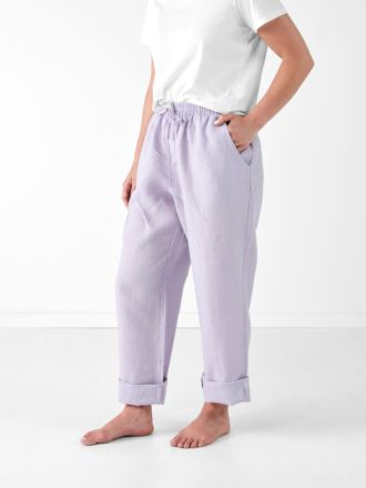 Nimes Lilac Linen Pants