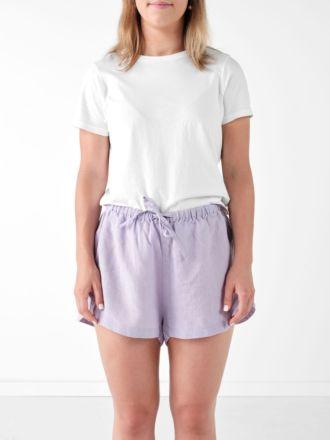 Nimes Lilac Linen Shorts