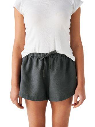 Nimes Magnet Linen Shorts