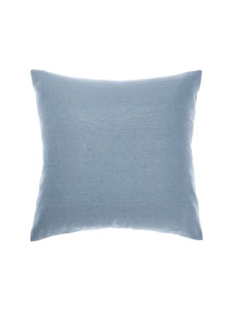 Nimes Blue Linen European Pillowcase