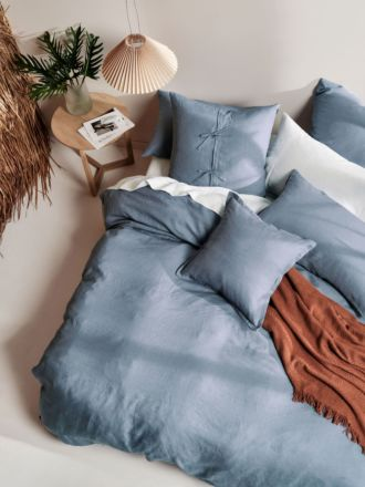 Nimes Blue Linen Quilt Cover Set