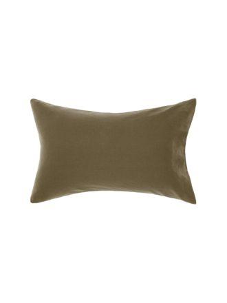 Nimes Olive Linen Standard Pillowcase