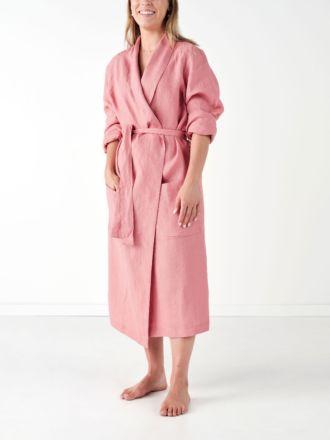 Nimes Rosette Linen Robe