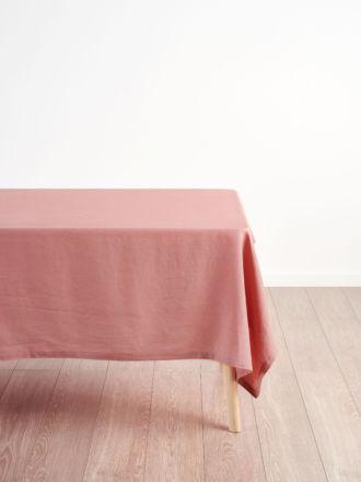 Nimes Rosette Linen Square Tablecloth