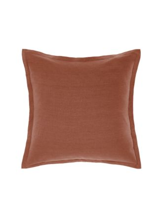 Nimes Rust Linen Tailored Cushion 48x48cm