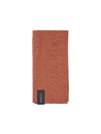 Nimes Rust Linen Tea Towel
