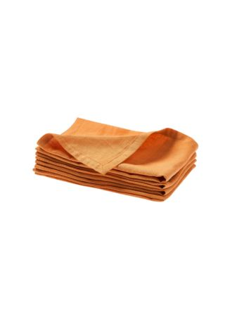 Nimes Terracotta Linen 4-Piece Napkin Set
