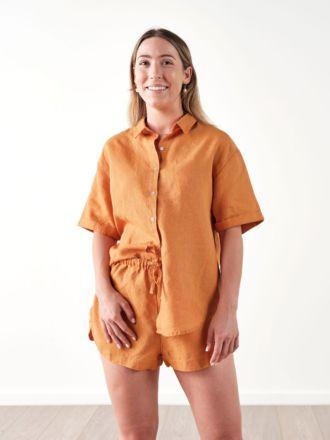 Nimes Terracotta Linen Shirt