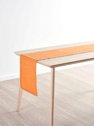 Nimes Terracotta Linen Table Runner
