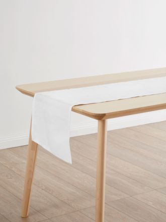 Nimes White Linen Table Runner