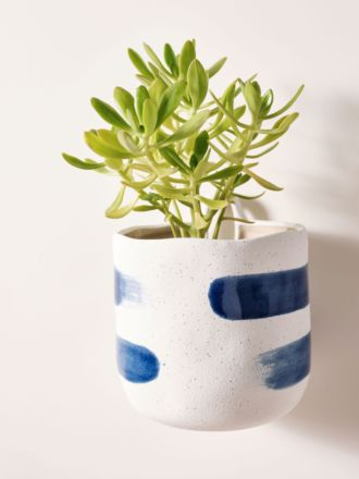 Paterna Blue Stripe Planter Pot 15cm